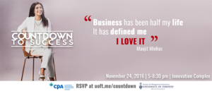 Countdown to Success featuring Manjit Minhas @ Innovation Complex | Mississauga | Ontario | Canada