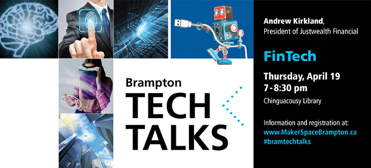 Brampton Tech Talks: Fintech @ Chinguacousy Library | Brampton | Ontario | Canada