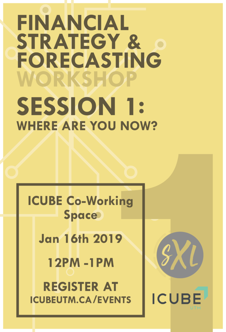 Financial Strategy & Forecasting Workshops - Session 1: Where are you now? @ ICUBE Co-working space | Mississauga | Ontario | Canada