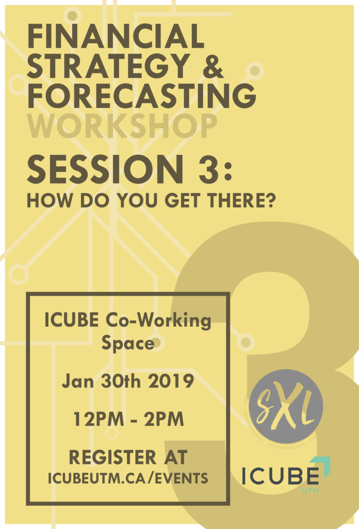 Financial Strategy & Forecasting Workshops - Session 3: How do you get there? @ ICUBE Co-Working Space | Mississauga | Ontario | Canada