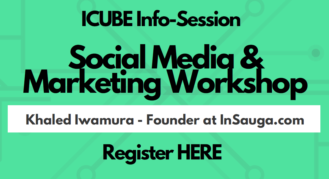 ICUBE Info Session + Marketing & Social Media Workshop @ MindShare - Erin Mills Mall | Mississauga | Ontario | Canada