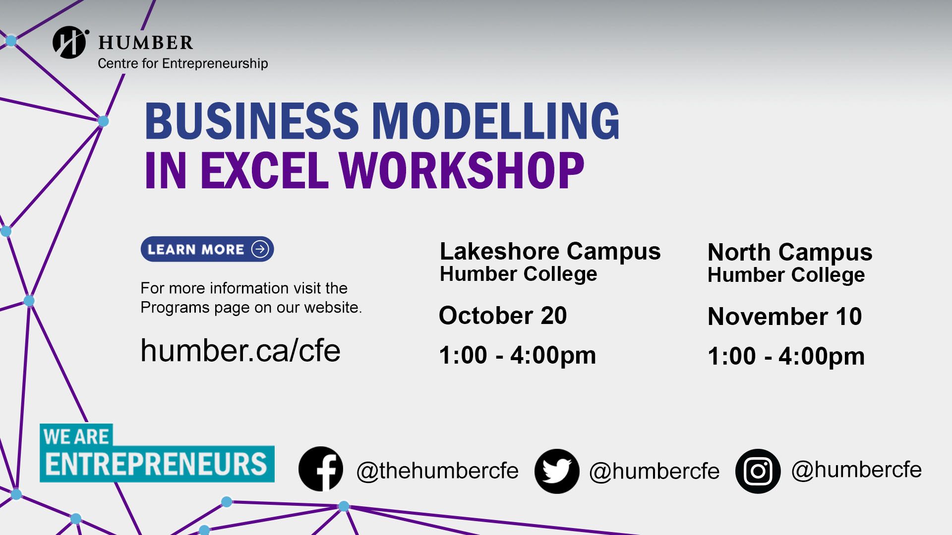 Sprout: Intrapreneurship Skills Based Training Program – Session 2: Business Modelling in Excel @ Humber Lakeshore Campus | Toronto | Ontario | Canada
