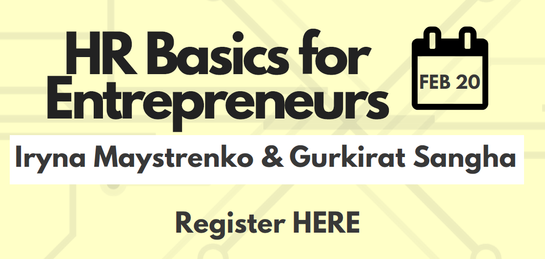 HR Basics for Entrepreneurs @ DH3075 - Deerfield Hall