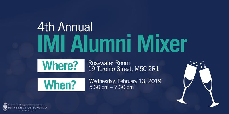 Institute for Management & Innovation (IMI) Alumni Mixer @ Rosewater Room