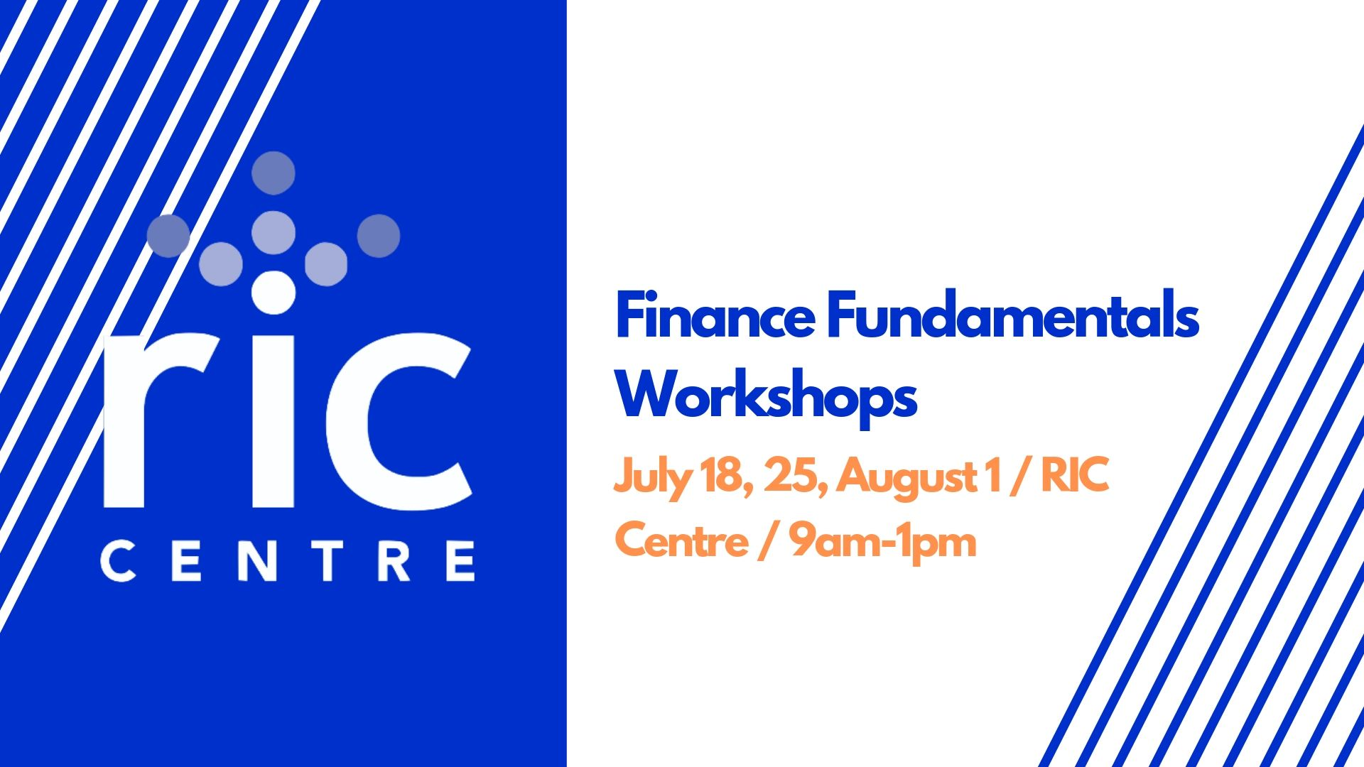 RIC Centre Finance Fundamentals @ RIC Centre